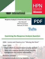 Feinstein Tufts Maxwell - Response Analysis - Presentation