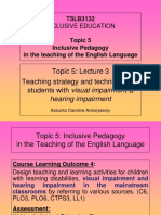 Topic 5 Lecture 3 - Visual & Hearing Impairment