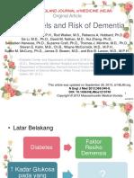 Glucose and Dementia - Geriatri Jurnal