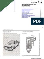 Lexus 1990 ES250 Electrical Components Manual