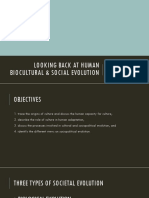 HUMAN BIOCULTURAL AND SOCIAL EVOLUTION