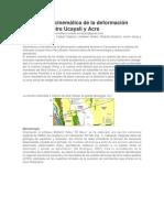 Geometría y Cinemática de La Deformación Cenozoica Entre Ucayali y Acre
