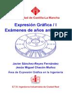 Exámenes de Expresión Gráfica (con soluciones)