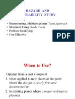 Hazard and Operability Study