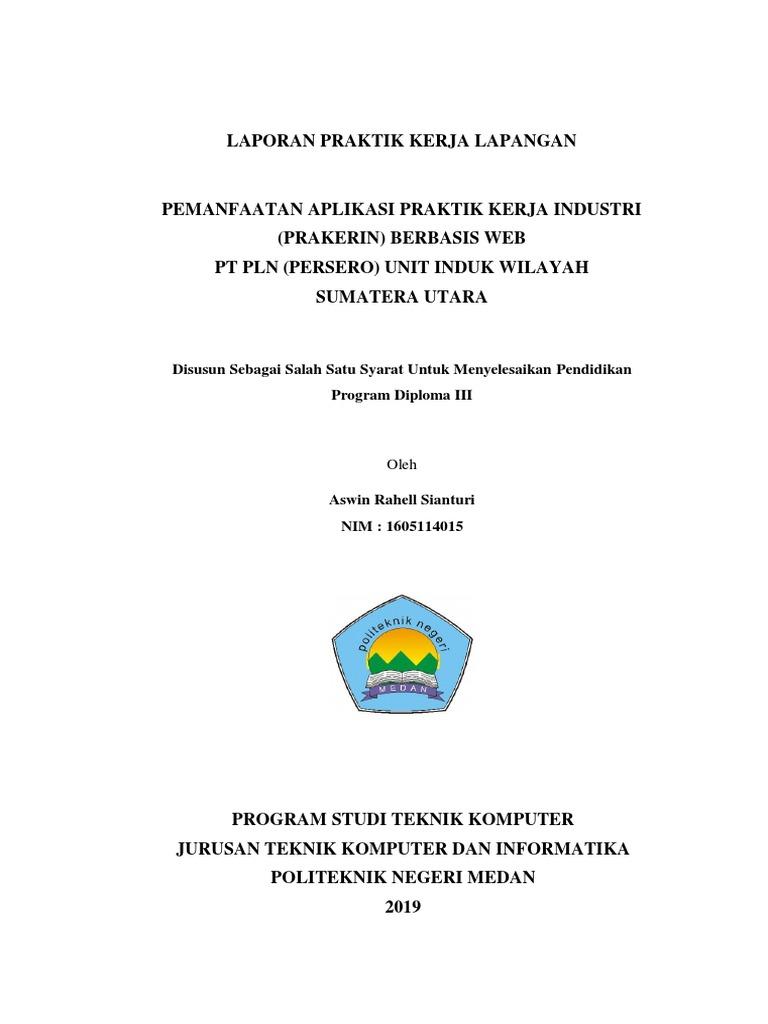 Laporan Pkl Pt Pln Wilayah Sumatera Utara