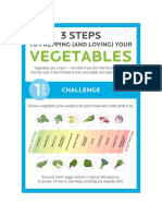 3 stept to love vegetables
