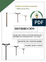 Modelado de un sistema de distribucion