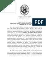 SALA CONSTITUCIONAL 1.729 de Fecha 18 de Diciembre de 2.015