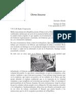 Salvador Allende Último Discurso