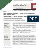 Ecocardiografía en la valoracion hemodinamica del paciente critico.