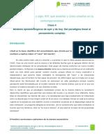 Clase 4 Modelos Epistemológicos de Ayer y de Hoy. Del Paradigma Lineal Al Pensamiento Complejo