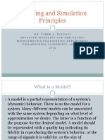 1. Modeling and Simulation Principles
