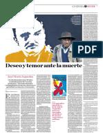 LITERATURA. José María Arguedas. Deseo y Temor Ante La Muerte. Carmen María Pinilla