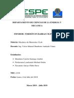 Informe Torsion en Barras Cilindricas