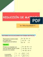 Reducción de Matrices