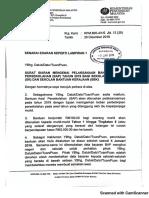Surat KPM Bantuan Awal Persekolahan 2019