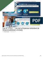 Ley Nº 21621 - Ley de La Empresa Individual de Responsabilidad Limitada - MiEmpresaPropia