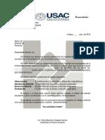 Carta de Practica 2019
