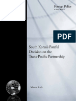 South Korea's Fateful Decision on the Trans-Pacific Partnership (TPP)