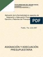 NORMATIVIDAD VIGENTE EN LA ADMINISTRACION DE OBRA IMSS Puebla.ppt