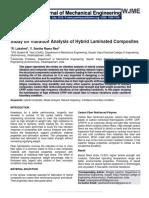 Study on Vibration Analysis of Hybrid Laminated Composites
