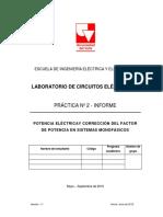 Informe Práctica 2_Medicion de Potencia Monofásica y Factor de Potencia