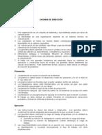 AXIOMAS DE DIRECCION
