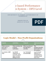 Performance Evaluation System – DFO Level