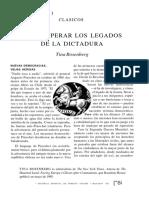 60) Para Superar Los Legados de La Dictadura