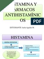 Histamina y Fàrmacos Antihistamìnicos