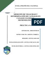 Informe 04_caudal y Velocidad Media