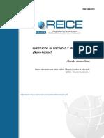 Investigación en Efectividad y Mejora Escolar Nueva Agenda - Carrasco 2008