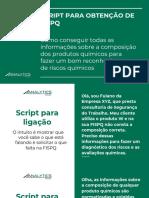 Script Para Obtenção de FISPQ