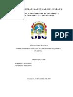 Primer Informe de Industrias Lacteas