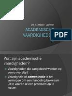 Academische vaardigheden 1
