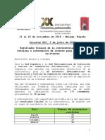 Circular 002 Resultados convocatoria e información de interés ponentes y asistentes