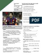Messi Simple Present