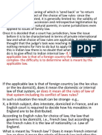 Private International Law (RENVOI)