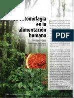 La Entomofagia en La Alimentación Humana