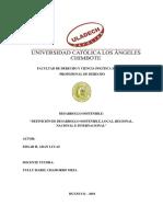 Desarrollo Sostenible Definición de Desarrollo Sostenible, Local, Regional, Nacional e Internacional