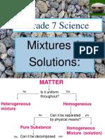 Grade 7 Mixture Substances