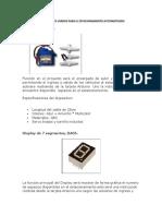 Componentes Usados Para El Estacionamiento Automatizado