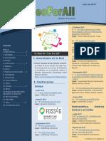 Boletín GeoForAll - Julio 2019 en español