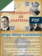 Cuatro presidentes de Guatemala