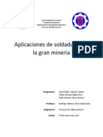 aplicaciones de soldaduras en la gran minería