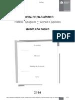PRUEBA de DIAGNÓSTICO Historia, Geografía y Ciencias Sociales. Quinto Año Básico - PDF