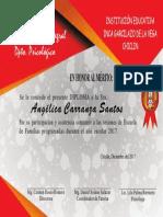 Diploma Angelica Carranza