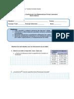 Prueba Matematica 6 Coef2 Primer Semestre