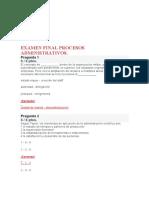 Examen Final Procesos Administrativos Respuestas Corregidas 2018