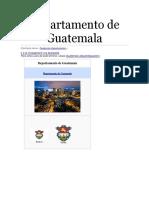 Departamento de Guatemala y Municipio de Amatitlan